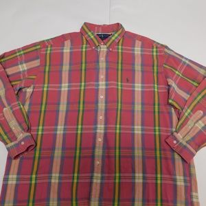Ralph Lauren Shirts - Ralph Lauren 2XL Pink Button Down Shirt Blake Cott